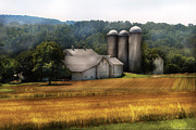Silos Posters - Farm - Barn - Home on the range Poster by Mike Savad