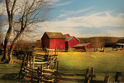 Fencing Framed Prints - Farm - Barn - I bought the farm Framed Print by Mike Savad