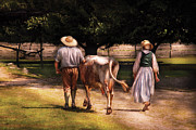 Milking Art - Farm - Cow - Time for milking  by Mike Savad