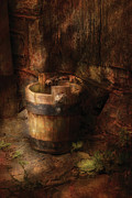 Farm - Pail - An Old Pail Print by Mike Savad