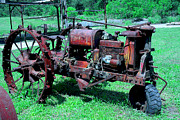 Ancient Tractor Prints - Farm All Says It All Print by Mike Flynn