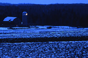 Star Barn Photos - Farm at Christmas by Timothy Johnson