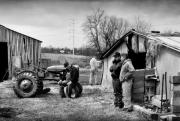 Rural Indiana Photo Prints - Farm Auction Print by Todd Fox