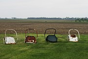 Todd Sherlock Art - Farm Chairs by Todd Sherlock
