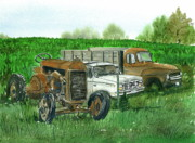 Antiques Paintings - Farm Country Collectables I by Bud Bullivant