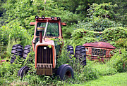 Susan Leggett Acrylic Prints - Farm Equipment Acrylic Print by Susan Leggett