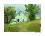 White House Digital Art Prints - Farm House In Lucknow Ontario Print by Bob Salo