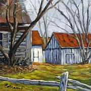 Richard Art - Farm in Berthierville by Richard T Pranke