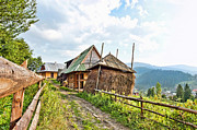 Carpathian Mountains Posters - Farm in Carpathian  Poster by Alain De Maximy