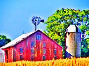 Barn Digital Art - Farm near Gettysburg by Bill Cannon