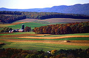 Landscapes Acrylic Prints - Farm near Klingerstown Acrylic Print by USDA and Photo Researchers