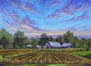 Featured Painting Prints - Farm on Glenn Bridge Print by Jeff Pittman