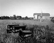 Farm On Hiway C Print by Jan Faul