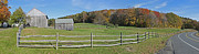 Split Rail Fence Framed Prints - Farm on Vermont Highway 9 Framed Print by Gregory Scott