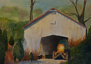 Machinery Painting Posters - Farm Shed Poster by Elise Nicely