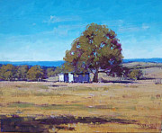 Rural Scenes Paintings - Farm shed by Graham Gercken