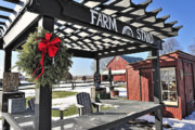 Farm Stand Posters - Farm Stand In Snow Poster by Tim Doubrava