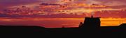 Farm Sunset Print by Joe Sohm and ChromoSohm and Photo Researchers