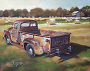 Old Farm Shed Originals - Farm Truck by Todd Baxter