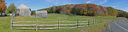 Gregory House Art - Farm with Split Rail Fence by Gregory Scott