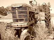 Abandonded Tractor Art - Farmall in Sepia by Lynda Dawson-Youngclaus