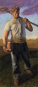 Football Pastels - Farmboy 2 by Christian Vandehaar