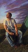 Rural Scenes Pastels - Farmboy 3 by Christian Vandehaar