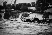 Ferguson Acrylic Prints - Farmer On A Tractor In Rural Ireland Acrylic Print by Joe Fox