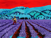 Crops Paintings - Farmer by Randall Weidner