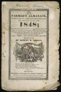 Book Cover Prints - Farmers Almanack, 1848 Print by Granger