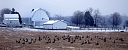 Winter Photos Prints - Farmers Christmas Print by Skip Willits