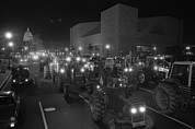 Protest Photos - Farmers Driving Tractors by Everett