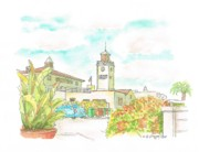 Landmarks Paintings - Farmers-Market-3rd-and-Fairfax-Los Angeles-CA by Carlos G Groppa
