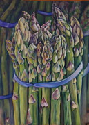 Band Pastels Originals - Farmers Market by Carol Allen
