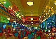 Seattle Digital Art Prints - Farmers Market Print by Dale Stillman