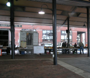 Winter Photos - Farmers Market in the Winter by Janis Shortridge