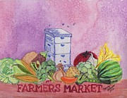 Landscape-like Art Paintings - Farmers Market No.3 by Connie Valasco