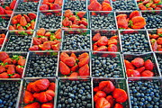 Bushel Basket Framed Prints - Farmers Market Framed Print by Robert Harmon