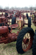 Old Tractors Photos - Farmers Racer by Joy Tudor