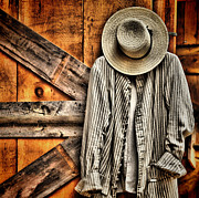 Straw Hats Photos - Farmers Wear by Pat Abbott