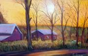 Seasonal Pastels - Farmhouse Autumn by George Grace