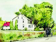 Denver Painting Acrylic Prints - Farmhouse in Denver PA Acrylic Print by Morgan Fitzsimons