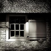 Thatched Framed Prints - Farmhouse Window Framed Print by David Bowman