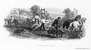 Hayfield Framed Prints - FARMING, c1870 Framed Print by Granger
