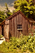 Horse And Buggy Photo Posters - Farming Shed Poster by Lourry Legarde