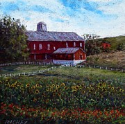 Pennsylvania Pastels - Farmyard Sunflowers by Bob Richey