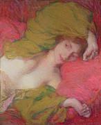 Farniente Print by Edmond-Francois Aman-Jean