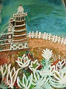 Casa Painting Originals - Faro un Poquito Torcida Con Valla by Anne-Elizabeth Whiteway
