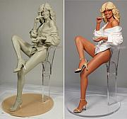 Three Dimensional Sculptures - Farrah by Ray Santoleri