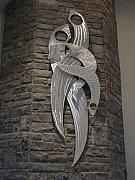 Silver Sculpture Prints - Farrell Print by Mac Worthington